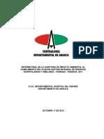 Informe Final Auditoria Ambiental Residuos Hospitalarios 2011 Ese Hospital Del Sarare