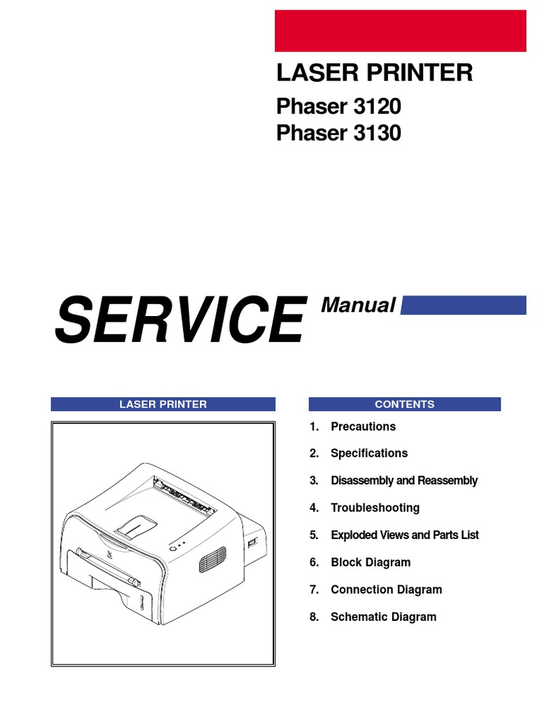 Xerox Phaser 31203130 Service Manual Electrostatic Discharge Esd Wiring Diagram Find Latest Part Printer Computing