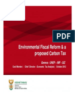 3 South Africa EFR Carbon Tax UNEP IMF GIS Oct 2012 C Morden