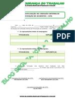 Modelo - Edital de Divulgação Comissão Interna de Prevenção de Acidentes (CIPA)