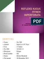 Refleksi Kasus Hymen Imperforata