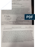 Affidavit charging Charles Pittman with the murder of his fiancee Olivia Greenlee