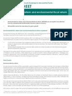 FS Environmental Tax Reform and Environmental Fiscal Reform