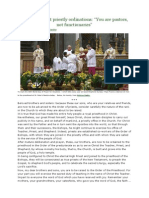 pope francis at priestly ordinations