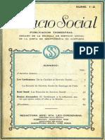 Servicio Social Añ0 I 1927 Nº 1-2