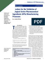 Biologic API Manufacturing Validation Josee Ethier