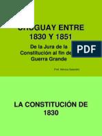 Uruguay Entre 1830 y 1851
