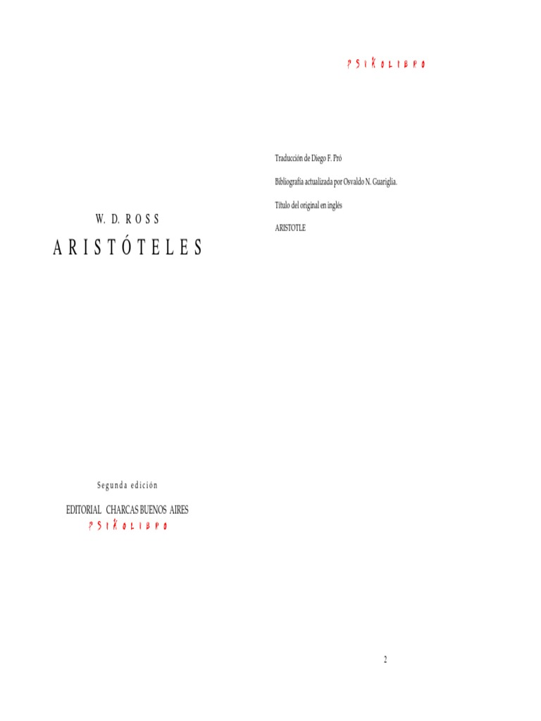 Sir David Ross - Aristoteles (Espanhol)