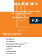 General Overview of the Infrastructures for a Large Mining Project in Panama - John Whitaker