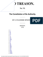 The Constitution of No Authority by Lysanser Spooner Boston 1870