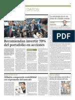 Recomiendan invertir 70% del portafolio en acciones_Gestión_18-02-2014_página 23