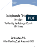 FDA_Quality Issues for Clinical Trial Materials