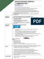 Sample Resume - MBA