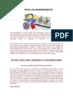 TRANSFORMACIÓN DE LAS UNIVERSIDADES EN VENEZUELA