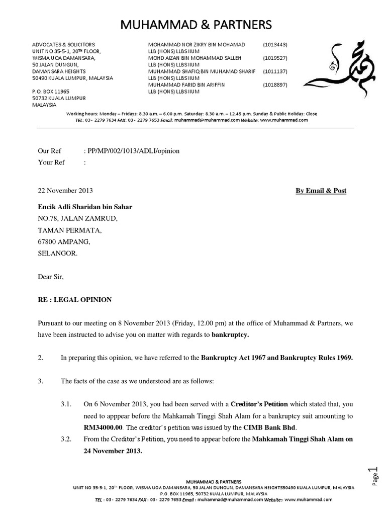 Formal Legal Opinion Letter from imgv2-1-f.scribdassets.com