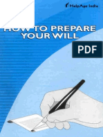 How to Prepare Your Will