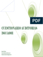 Check List Cuestionario Auditoria ISO 14001