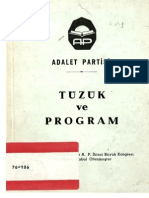Adalet Partisi Tuzuk Ve Program (Prensip Maddeleri) 1964