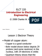 Lesson 1 Electron Theory
