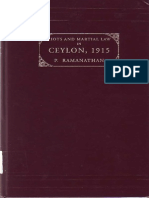 Riots and Martial Law in Ceylon 1915