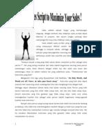 Using Sales Script to Maximize Sales