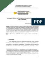 Tecnologias digitais na formação em Jornalismo e sua interface com a educação