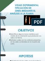 ACTIVIDAD EXPERIMENTAL IDENTIFICACIÓN DE CATIONES MEDIANTE EL ANÁLISIS