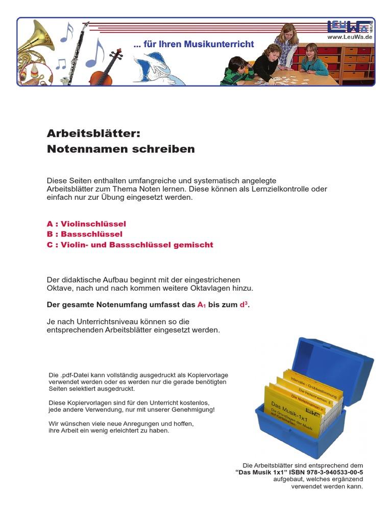 Unique Notenname Arbeitsblatt Inspiration - Kindergarten ...