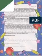 Homework Folder Letter