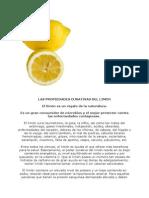 Las Propiedades Curativas Del Limon