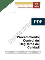 Procedimiento Control de Registros de Calidad