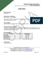 VEEP-DAT005 rev.00 - Especificação Produto - Ácido Tânico