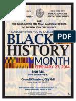 Public Advocate Letitia James Black History Month_2014