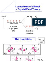 Chemistry 445 Lecture 16 Crystal Field Theory