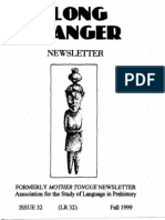 Long Ranger Newsletter 32 (Fall 1999)