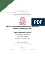 Perfil Profesional en Administracion de Empresas en El Area de Recursos Humanos