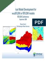 Conceptual Model Development for Modflow or Feflow Models