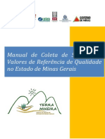 Manual Coleta Solos Para Vrqs Projeto Solos de Minas Feam