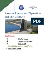 Rapport de La Sortie 2013 TOUAZI