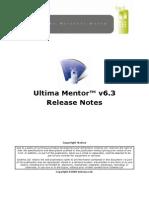 Ultima Mentor v6 3 Release Notes