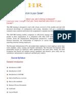 SAP_HR Couse Outlline