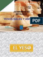 Yeso, Sales y Anhidrita