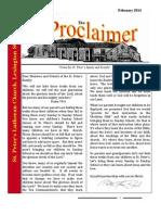 February 2014 Proclaimer