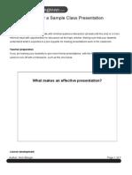 How to Prepare for a Sample Class Presentation