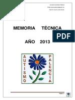 MEMORIAS TÉCNICAS 2013