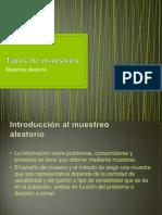 Diapositivas Tipos de Muestreo