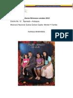 Informe Misionero Octubre 2012 Distrito 12