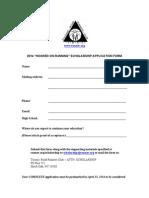 Scholarship Application 2014