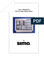 User Manual for SFX-10 Video Mixer