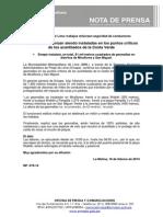 NP. 019-14 Geomallas continúan siendo instaladas en los puntos críticos de la Costa Verde